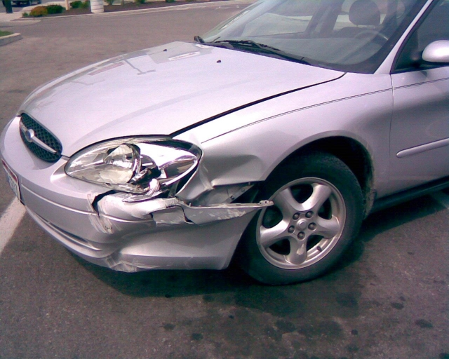 Wrecked Silver Ford Car for Sale Perth